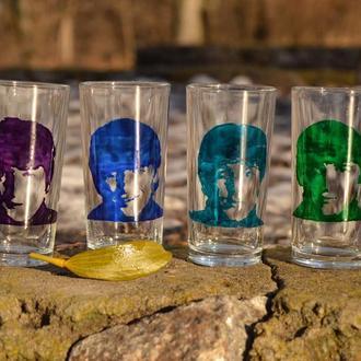 """Набор из четырех стаканов """"The Beatles"""""""