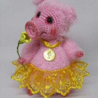 Свинка Маняша вязаная игрушка