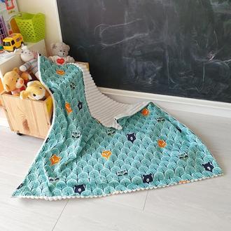 Детское одеяло-конверт Bear and fox