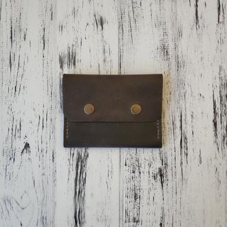 Кошелёк Stedley Mini 2 тёмно коричневый кожаный