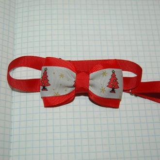 Новогодний галстук-бабочка