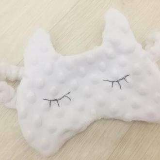 маска для сна кошка-плюшевая детская маска-плюшевая повязка на голову