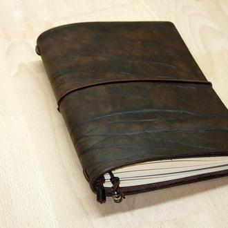 Состаренный винтажный кожаный блокнот