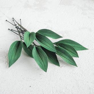 Шпильки для волос с листьями, Зеленые свадебные шпильки