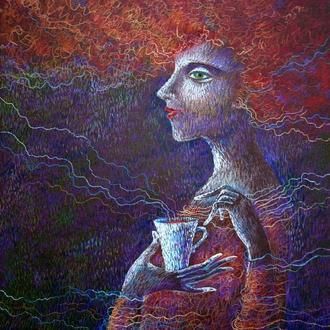 """""""Кофейный аромат"""" графический рисунок"""