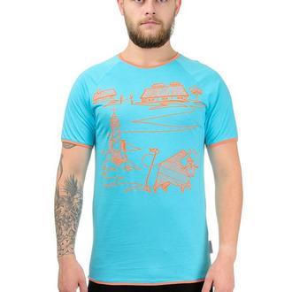 Чоловіча бірюзова з помаранчевим футболка Землероб Artystuff