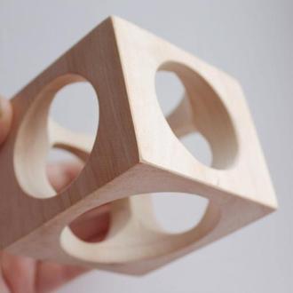 70 мм дерев'яний браслет з отворами по боках - липа