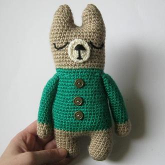 Вязаная игрушка - кот