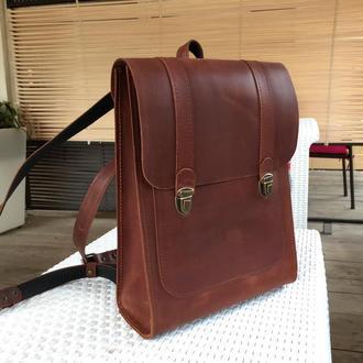Рюкзак из натуральной кожи рюкзак ручной работы