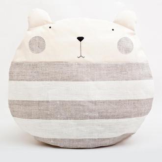 Подушка медведь, Круглая подушка, Декор в детскую