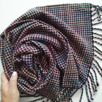 Тканый шарф Северное сияние