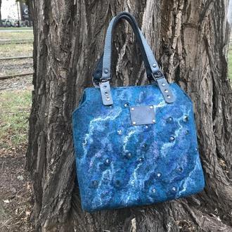 Валяная сумка ′Морская волна′