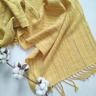 Тканый шарф Осеннее солнце