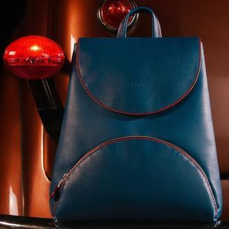Жіночий шкіряний рюкзак / мінімалістичний компактний наплічник