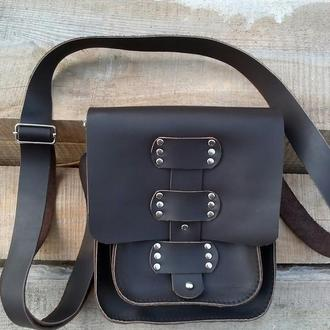 Кожаная сумка через плечо из Крейзи Хорс
