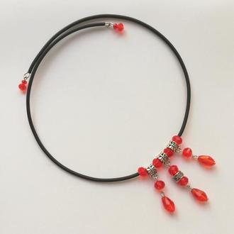 Колье-чокер Red Magma