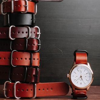 Кожаный ремешок на часы