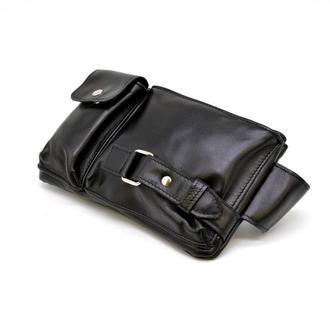 Кожаная сумка на пояс GA-8135-3md, черная, бренд Tarwa