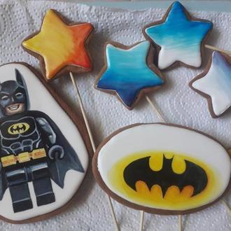 """Топеры - пряники на торт """"Лего Бэтмен"""""""