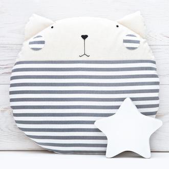 Декоративная подушка кот полосатый, Подарок девушке