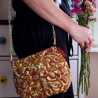 Бежевая женская сумочка Ванильная