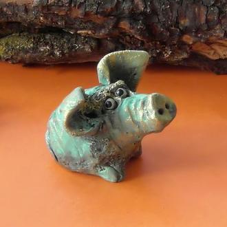 Фигурка свинки свинья интерьерная