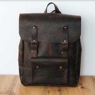 Рюкзак для парней, рюкзак , подарок парню, с отделением для ноутбука, крутой рюкзак, натуральная кож