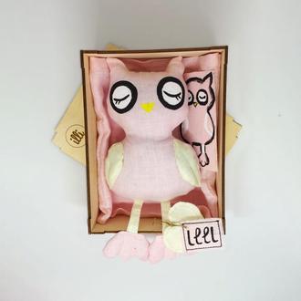 Эко игрушка сова/ Органические детские игрушки