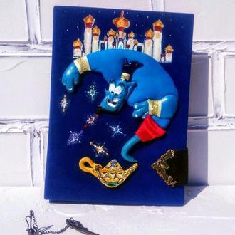 Блокнот детский  для рисования с крафтовыми листами Артбук Скетчбук Оригинальный Синий