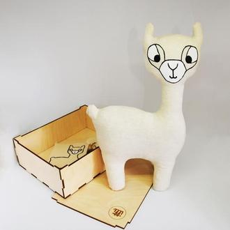 Органическая игрушка лама для детей Эко игрушка для подарка ребенку Бесопасные игрушки