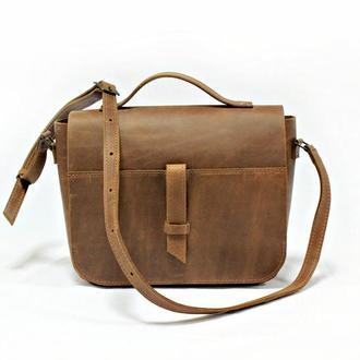 Женская сумочка на плечо. 07003/коньяк