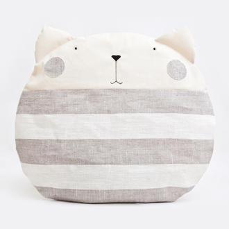Декор в детскую, подушка кот