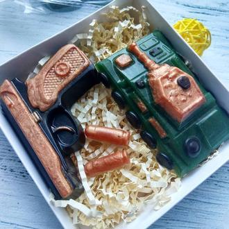"""Набор подарочный мыло """"Танк и пистолет Макарова"""""""