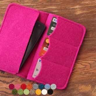 Чехол для паспорта и телефона из шерстяного фетра