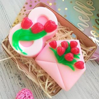 """Набор подарочный мыло """"8 Марта (тюльпаны)"""""""
