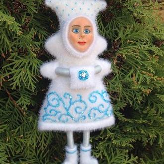 """Интерьерная, новогодняя, елочная кукла """"Зимняя фея"""""""