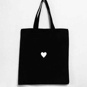 """Эко - сумка шоппер """"Сердечко"""""""