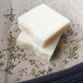 Натуральное ланолінове мыло для стирки шерстяных вещей с лавандой
