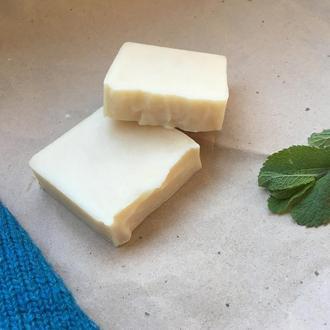 Натуральне ланолінове мило для прання шерстяних речей з м'ятою