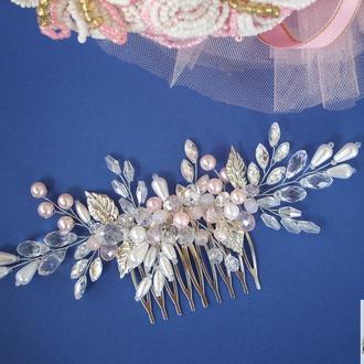Свадебное украшение для волос, свадебное украшение , свадебный гребень для волос, гребень для невест