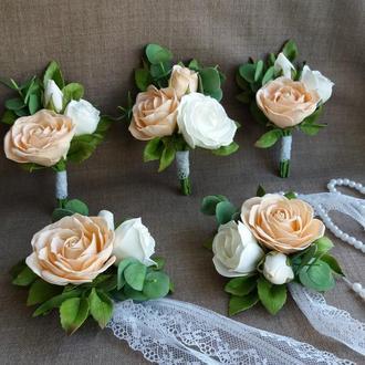 """Весільний комплект """"Персикова ніжність"""""""
