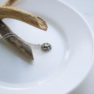 Кулон-браслет з піритом
