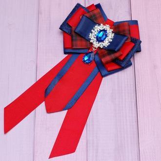 Стильный школьный комплект в красно-синем цвете