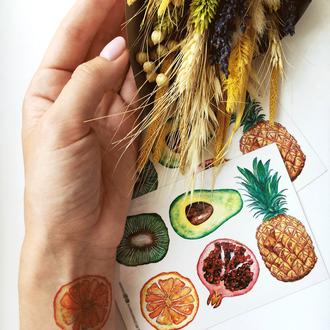 Набір тимчасових тату «Екзотичні фрукти»