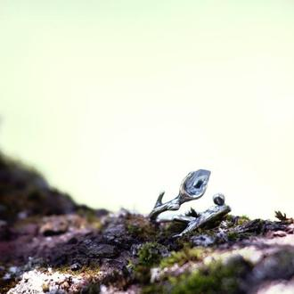 Каблучка Гілочка з прозорим топазом