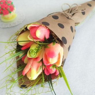 """Мыло  """"Букет тюльпанов"""""""