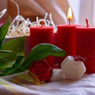 Свечи з пчелиного воска, свічки , подарочный набор, свадебные свечи