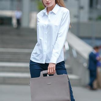 Женская сумка для ноутбука и документов мокко – бежевая