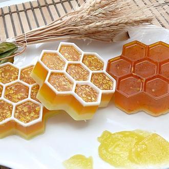 Мыло ОВСЯНО-МЕДОВОЕ пчелиные соты