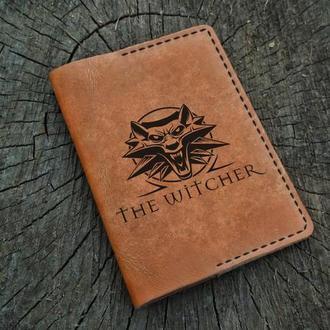 Кожаная обложка для паспорта, Ведьмак, The Witcher